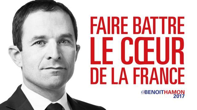 La candidature présidentielle de Benoit Hamon